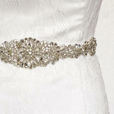 Bridal Sash/Bridal Belt/ Wedding Dress Sash Belt Vintage Rhinestone Crystal Us