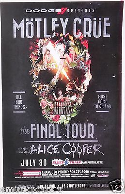 "Motley Crue / Alice Cooper ""the Final Tour"" 2014 San Diego Concert Poster"