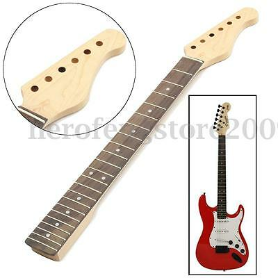 Brown Maple Wooden Gloss Electric Guitar Neck For ST Parts 22 Fret Replacement