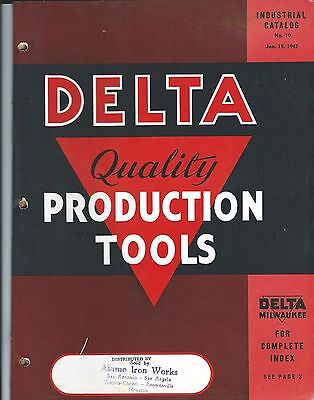 Tool Catalog - Delta Milwaukee Industrial Production Tools Brochure 1942 (TL28)