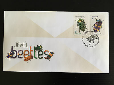 Brand New Mint Condition 2016 Jewel Beetles First Day Cover S/A Stamp Envelope