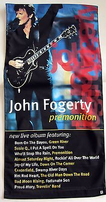"JOHN FOGERTY ""PREMONITION"" U.S. PROMO CLOTH BANNER-Creedence Clearwater Revival"