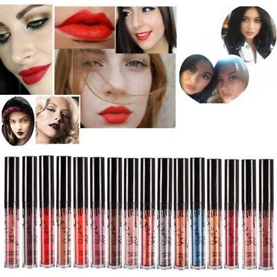 Waterproof Makeup Matte Lip Liquid Lipstick Long Lasting Lip Gloss 16 Colors