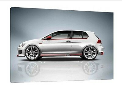Volkswagen Golf Gti - 30x20 Inch Canvas - VW Framed Picture Print Poster MK7