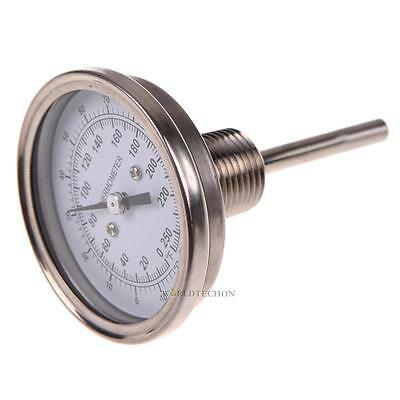 """1/2"""" NPT Stainless Steel Thermometer for  Brew Pot Moonshine Still Condenser Hot"""