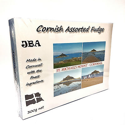 300G Assorted Cornish Fudge Made In Cornwall With St Michaels Mount Design