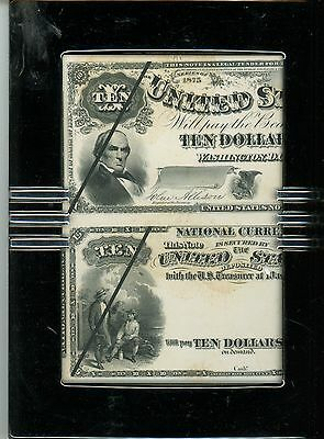 1875 $10 National Bank Note & Legal Tender First Charter Laban Heath's Proof