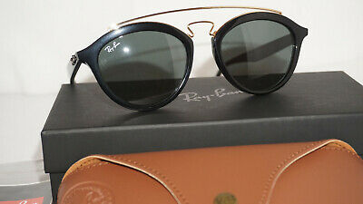 d286308e53f Ray Ban New Sunglasses GATSBY Black Gold Green Classic RB4257 601 71 50 145