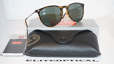 54b0f40c072 RAY BAN New Sunglasses ERIKA CLASSIC Tortoise Gunmetl Green RB4171 710 71 54  145
