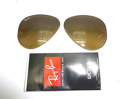 Lenti Originali Ray-Ban Aviator 3025-3407 001/3K 55 Tempered Glass Genuine Parts