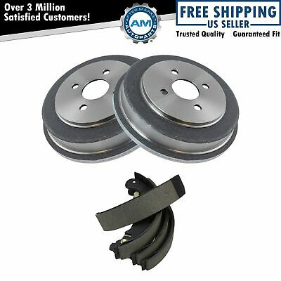 Brake Drum & Shoe Rear Kit Set for Chevy Cobalt Pontiac G5 Saturn Ion New