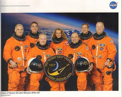 "STS-127 NASA SPACE SHUTTLE ATLANTIS  CREW 8 x10"" PHOTO EXCELLENT  FREE US SHIP"