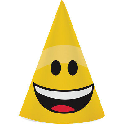 EMOJIONS Emoji PARTY HATS Smiley Birthday Party Supplies Favors Photo Props