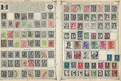 Romania Collection on Minkus & Harris Pages, 1871 to 1996, Around 60 Pages
