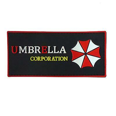 PVC rubber 3D resident evil umbrella corp militaria tactical airsoft hook patch