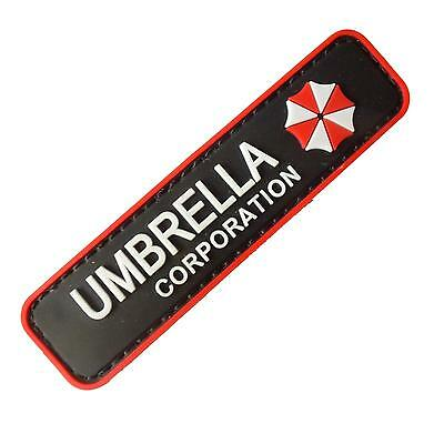 Resident Evil PVC rubber 3D Umbrella Corporation cosplay touch fastener patch