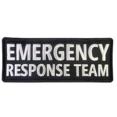 EMERGENCY RESPONSE TEAM big XL 10x4 inch embroidered EMT touch fastener patch