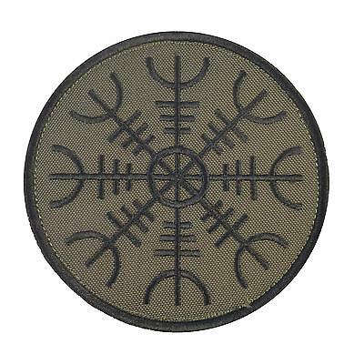 Aegishjalmr Viking Helm of Terror Awe olive drab OD patch VELCRO® brand