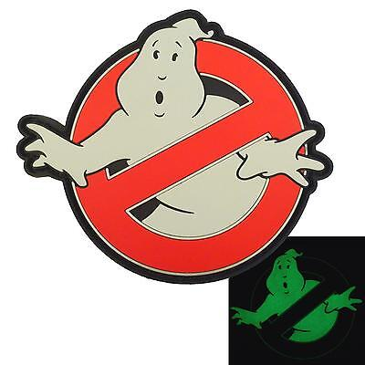 Ghostbusters No Ghost PVC Glow Dark 3D GITD cosplay movie touch fastener patch