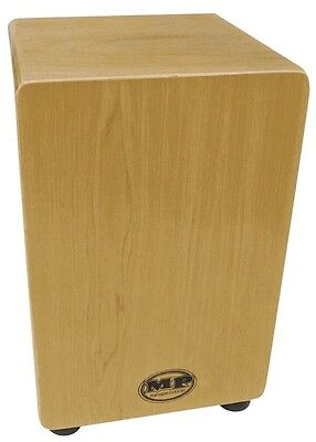 CAJON DRUM - MP Drummers Wooden Rhythm Box *NEW* Maple Veneer & Carry Bag