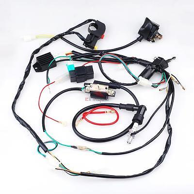 50cc 90cc 110 125cc Complete Wiring Harness Cdi Stator Coil Ignition