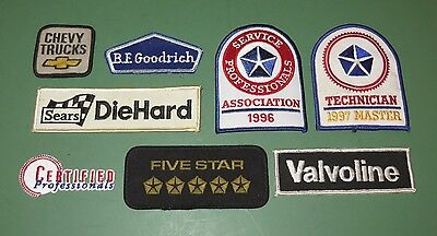 Lot of 8 Sears Chevy Dodge Chrysler Mechanic Uniform Patches Service Technician