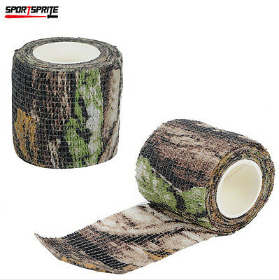 2 Rolls Camouflage Stealth Tape Combat Army Gun Wrap Rifle Medical Tape Camo