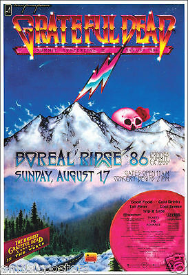 """Grateful Dead """"boreal Ridge 1986 - The Highest Concert In The World"""" Tour Poster"""