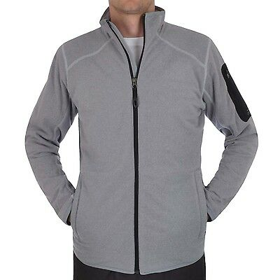 adidas Performance Mens Outdoor Full Zip Knit Fleece Jacket - Grey