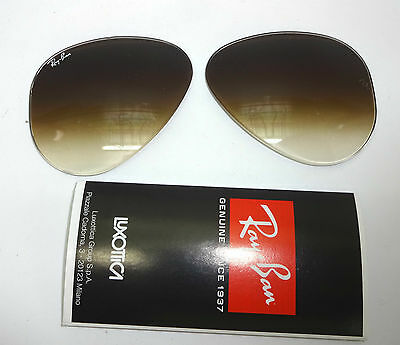 Lenti Originali Ray-Ban Aviator 3025 001/51 55 Tempered Glass Genuine Parts