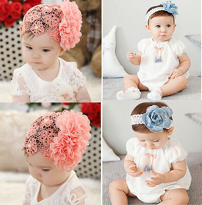 Cute Flower Headband Hair Band Accessories For Kids Girl Baby Toddler Infant JNE