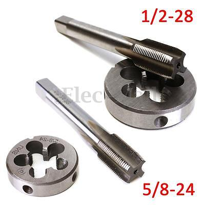 5/8-24 Or 1/2-28 UNEF Hand Tap & Round Die HSS Right Hand Tapping Cutting Tool