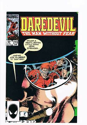 Daredevil # 219 Badlands ! Miller grade 9.0 scarce book !!