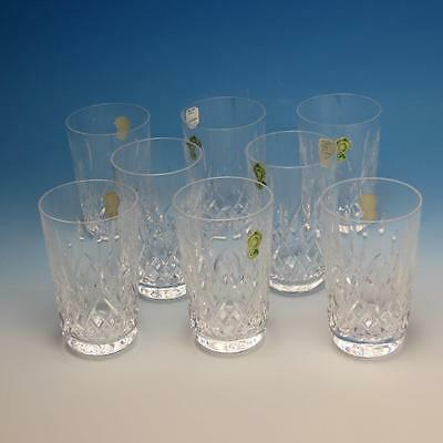 Waterford Crystal - Lismore Pattern - 8 Flat Tumblers - 5 inches