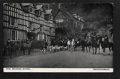 Montgomery - The Dragon Hotel, Hunt Meeting - printed postcard