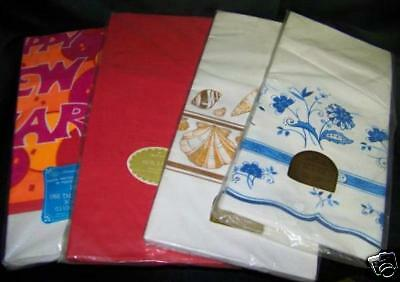 4 Vintage PAPER Tablecoth LOT 3 HALLMARK Retro NIP