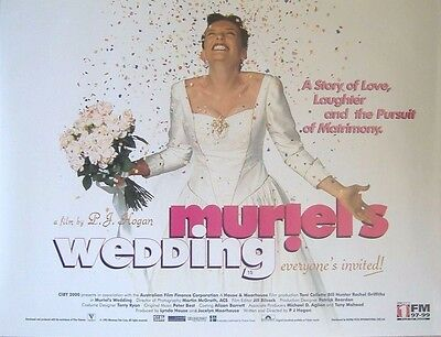 Muriel's Wedding (1994) Original Rolled UK Quad Movie Poster, Toni Collette