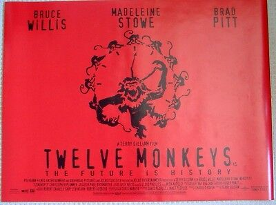TWELVE MONKEYS (1995) Original Rolled D/S UK Quad Movie Poster, Terry Gilliam