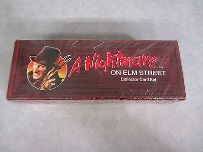 Nightmare on Elm Street Coffin Collector Card Set Impel 1991 Sealed