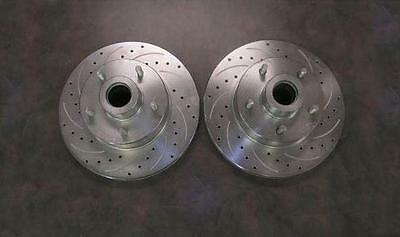 "Ford Mustang II 11"" Front Big Disc Brake Slotted Rotors 5 x 4.75 Chevy PAIR"