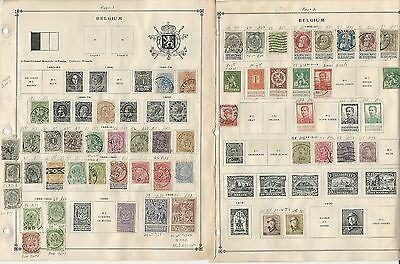 Belgium Collection on Scott International Pages, 1850 to 1993, Around 100 Pages
