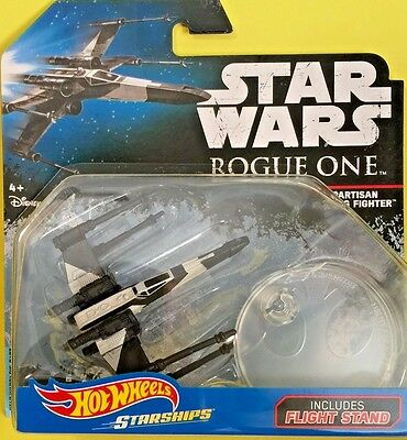 Hot Wheels 2017 Diecast Star Wars Starships PARTISAN X-WING FIGHTER DYK03 Rogue
