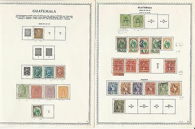 Guatemala Collection 1871 to 1972 on Minkus Specialty Pages, SCV $535, 60 Pages