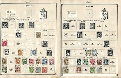 Norway Collection on Scott International Pages, 1856-1992, Around 40 Pages