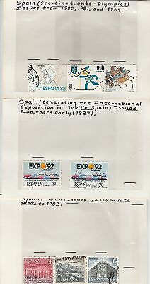 Spain stamps on old approval card (lot 1)