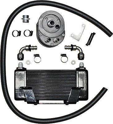 Jagg Oil Coolers 750-2400 Horizontal 10 Row Oil Cooler Black