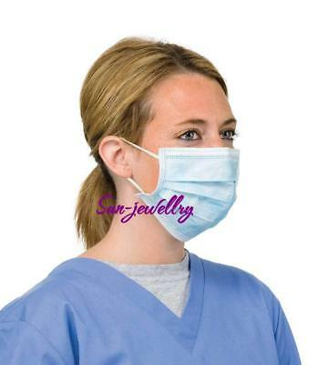 50PCS DISPOSABLE SURGICAL EARLOOP FACE SALON DUST CLEANING Flu Medical MASK S