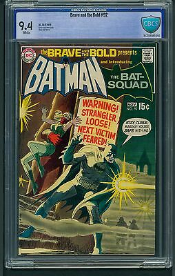 Brave and the Bold #92 (1970) CBCS Graded 9.4 ~ Batman  Nick Cardy Art ~ Not CGC