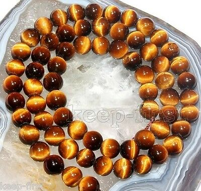 """Genuine 6mm Natural Yellow Tiger's Eye Gems Loose Beads 15""""AAA++"""