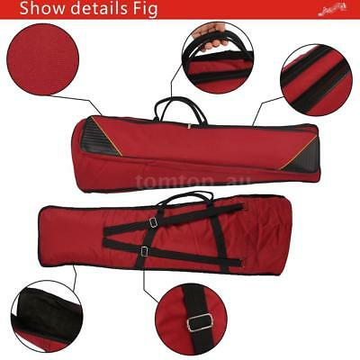 600D Water-resistant Trombone Gig Bag Oxford for Alto/Tenor Trombone Red P7Y2